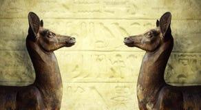 埃及雕塑 库存照片