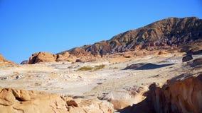 埃及非洲沙漠色的峡谷 股票视频