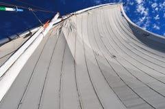 埃及风船(Felucca)沿尼罗河 免版税图库摄影