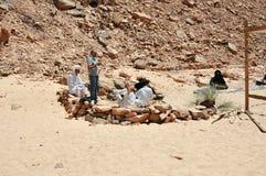 埃及,西奈半岛的沙漠,色的峡谷 免版税库存照片