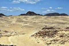 埃及,西奈的山离开 免版税库存照片
