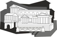 埃及建筑学 库存照片