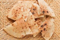 埃及baladi面包 免版税图库摄影