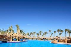 埃及el旅馆池热带sharm的回教族长 库存图片