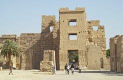 埃及habu卢克索medinet废墟 免版税库存图片