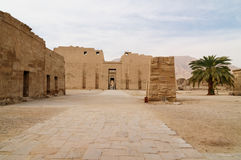 埃及habu medinet 免版税库存照片