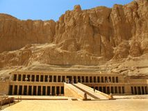 埃及hatshepsut卢克索国王寺庙谷 库存图片