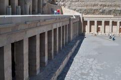 埃及hatshepsut寺庙 卢克索 埃及 库存图片