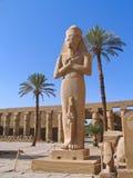 埃及ii卢克索rameses雕象 免版税库存照片