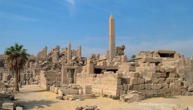 埃及karnak卢克索寺庙视图 免版税图库摄影