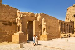 埃及karnak卢克索寺庙 图库摄影