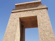 埃及karnak卢克索寺庙 免版税库存图片
