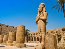 埃及karnak卢克索寺庙 免版税库存照片