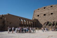埃及karnak寺庙 免版税库存图片