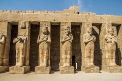 埃及karnak系列寺庙thebes 图库摄影