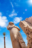 埃及karnak系列寺庙thebes 免版税库存图片