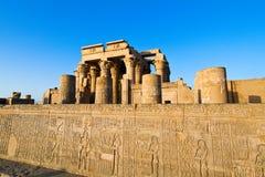 埃及kom ombo寺庙 库存照片