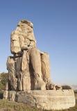 埃及memmnon雕象 免版税库存照片