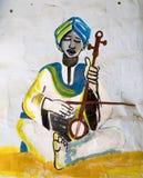 埃及nubian墙壁 免版税库存照片