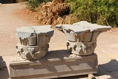 埃及philae寺庙 库存照片