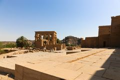 埃及philae寺庙 免版税库存照片
