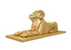 埃及Ram朝向狮身人面象雕象 库存图片