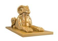 埃及Ram朝向狮身人面象雕象 库存照片