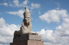 埃及Sphinges在圣彼德堡 免版税库存图片