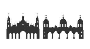 埃塞俄比亚商标 在白色背景的被隔绝的埃赛俄比亚的建筑学 库存例证