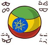 埃塞俄比亚国家球 皇族释放例证