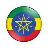 埃塞俄比亚国旗徽章按钮 向量例证