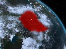 埃塞俄比亚在从轨道的晚上 向量例证