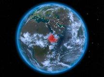 埃塞俄比亚在地球上的晚上 向量例证