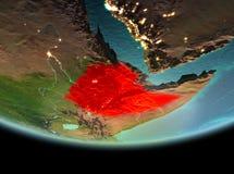 埃塞俄比亚在地球上的晚上 皇族释放例证