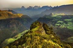 埃塞俄比亚山simien 免版税库存照片