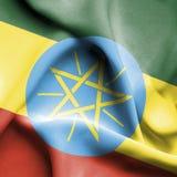 埃塞俄比亚挥动的旗子 库存例证