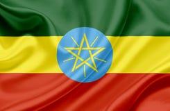 埃塞俄比亚挥动的旗子 皇族释放例证