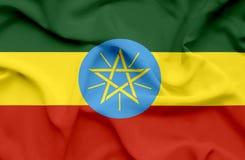 埃塞俄比亚挥动的旗子 向量例证