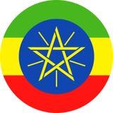 埃塞俄比亚旗子传染媒介圆的平的象 库存例证