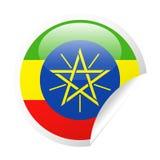 埃塞俄比亚旗子传染媒介圆角落纸象 皇族释放例证