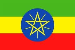 埃塞俄比亚旗子传染媒介平的象 库存例证