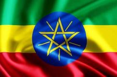 埃塞俄比亚旗子例证 向量例证