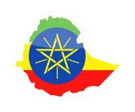 埃塞俄比亚旗子国家等高传染媒介象 向量例证