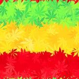 埃塞俄比亚旗子无缝的样式 牙买加雷鬼摇摆乐 库存例证