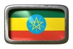 埃塞俄比亚旗子标志 库存例证