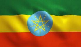 埃塞俄比亚旗子 库存例证