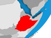 埃塞俄比亚映射 皇族释放例证