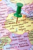 埃塞俄比亚映射 库存图片