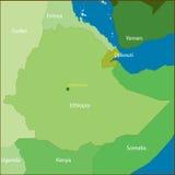 埃塞俄比亚映射 库存例证