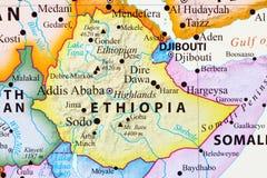 埃塞俄比亚映射 向量例证